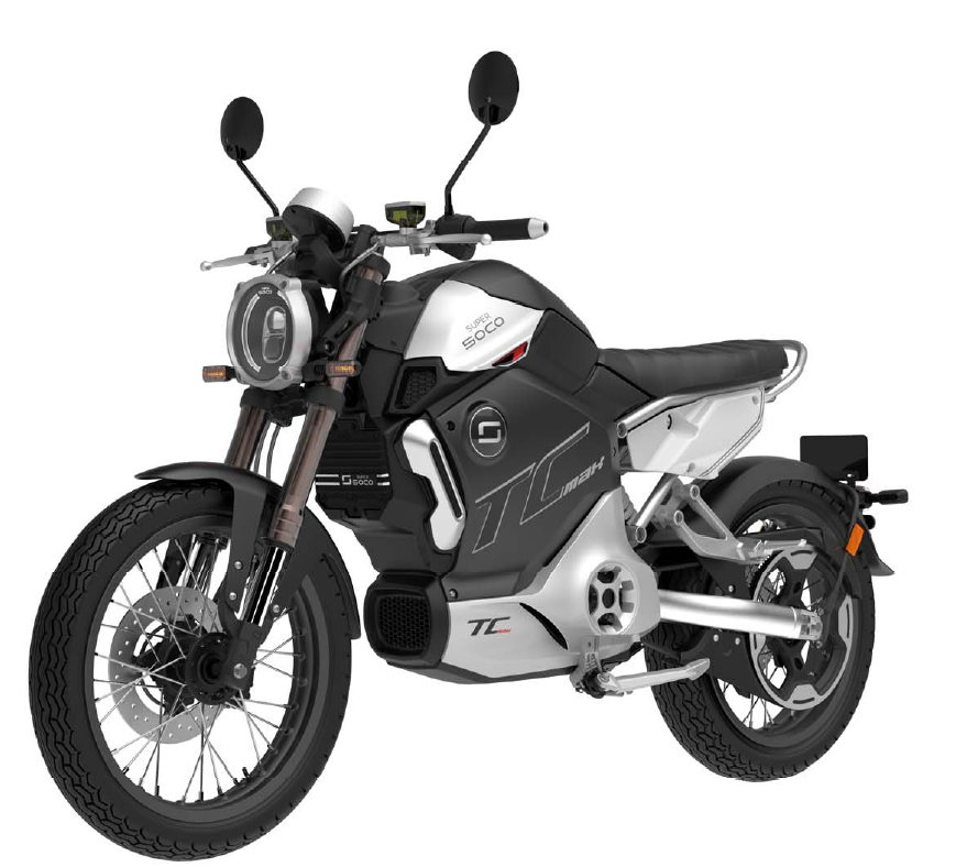 E-Motorrad SUPER SOCO TC MAX mit Zulassung