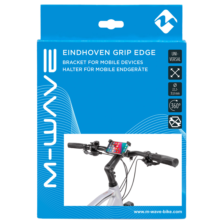 M-WAVE Eindhoven Grip Edge Halter für mobile Endgeräte, Handyhalter