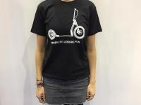 T-Shirt schwarz go!mate Größe S/M/L/XL